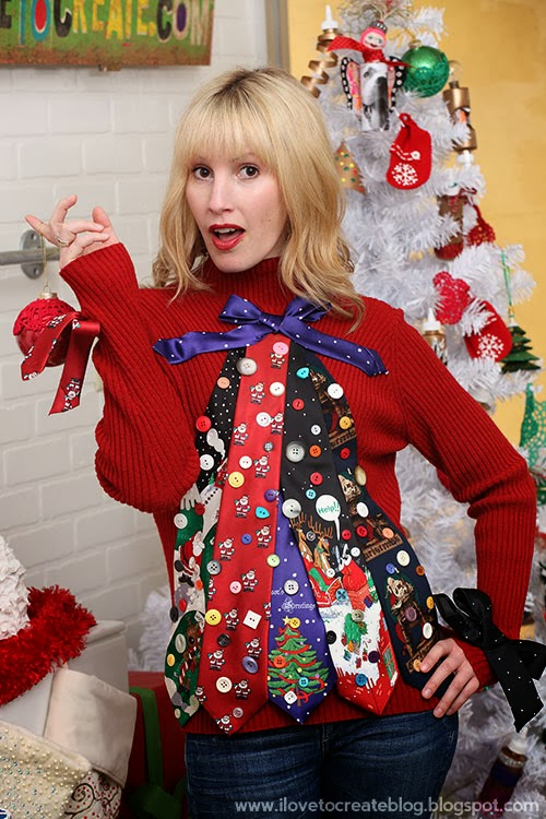 ugly tie christmas tree sweater by pattiewack this is the ultimate combo of ugly - Homemade Ugly Christmas Sweater