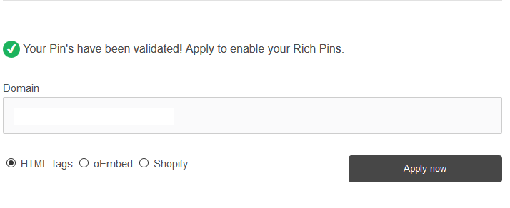 Apply for rich pins