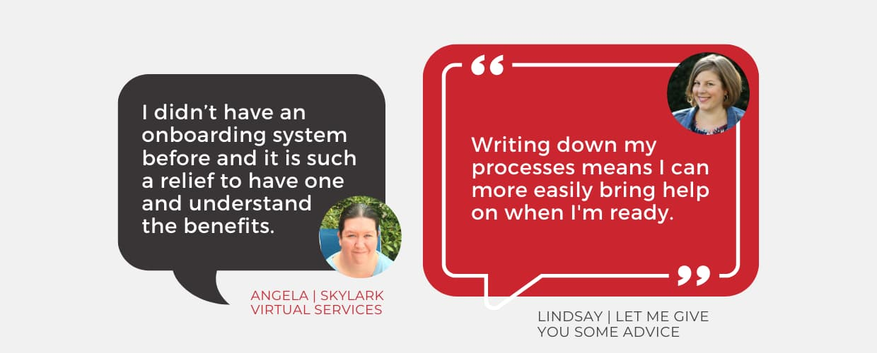 Simple Pin Pro client testimonials about onboarding and processes.